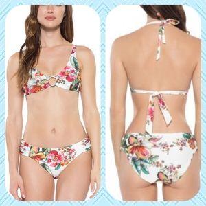 Becca Women's Emma Embellished Floral-Print Bikini